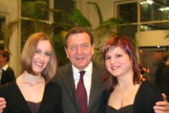 Duo Harparlando mit Gerhard Schröder